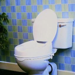 Toilettensitzerhöher Savanah mit Deckel,